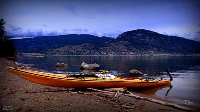 Poster featuring the photograph Kings Beach - Okanagan Lake - Kayaking by Guy Hoffman