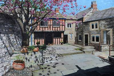 Kings Court, Bakewell, Derbyshire, 2009 Oil On Canvas Poster