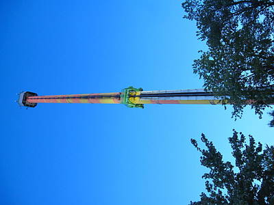Kings Dominion - Drop Tower - 12126 Poster by DC Photographer