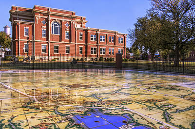 Kiowa County Courthouse With Mural - Hobart - Oklahoma Poster by Jason Politte