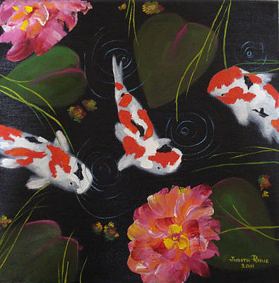 Poster featuring the painting Kippycash Koi by Judith Rhue