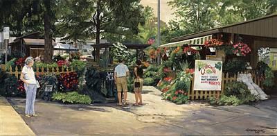 Kirkwood Flower Graden Poster by Don  Langeneckert
