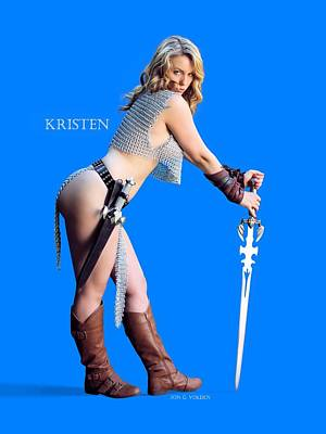 Kirsten Vgirl Pinup Poster