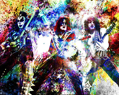 Kiss Art Print Poster by Ryan Rock Artist