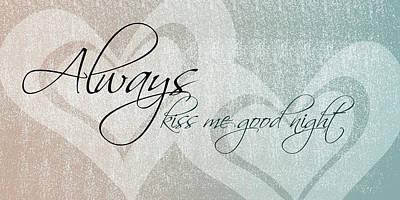 Kiss Me Good Night Poster