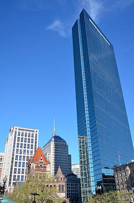 Poster featuring the photograph Kissing The Boston Sky by Amanda Vouglas