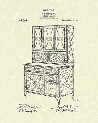Kitchen Cabinet 1914 Patent Art Poster