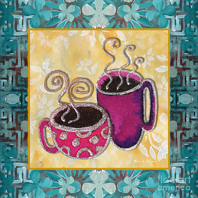 Kitchen Cuisine Hot Cuppa No19 By Romi And Megan Poster by Megan Duncanson