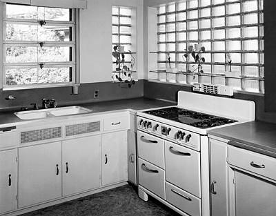 Kitchen In A Modern Home Poster