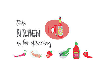 Kitchen Is For Dancing Poster