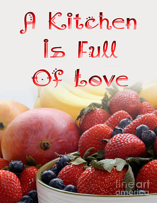 Kitchen Is Full Of Love 16 Poster by Andee Design