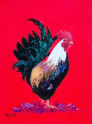 Kitchen Rooster Poster by Jan Matson