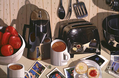 Kitchen Table No.1 1994   Skewed Perspective Series 1991 - 2000 Poster by Larry Preston