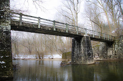 Kitchens Lane Bridge Over The Wissahickon Creek Poster