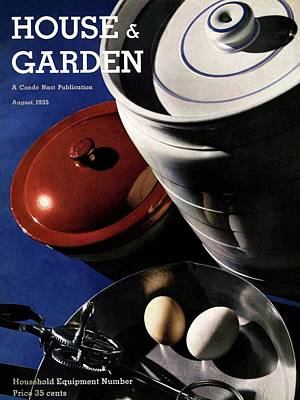 Kitchenware And Eggs Poster by Anton Bruehl