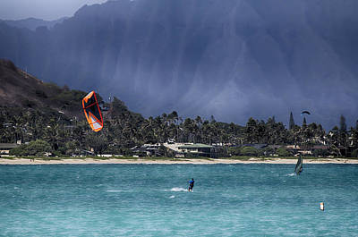 Kite And Windsurfing-oahu Hawaii Poster
