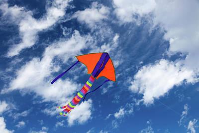 Kite Flying In Sky Poster by Wladimir Bulgar