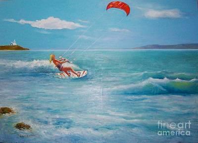 Kite Serf Poster by George Siaba