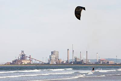 Kite Surfer Poster by Ashley Cooper