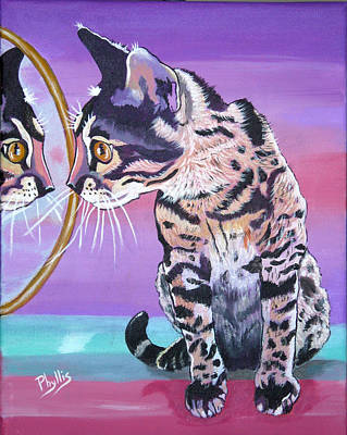 Poster featuring the painting Kitten Image by Phyllis Kaltenbach