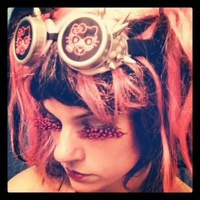 #kitty #hellokitty #steampunk #goggles Poster