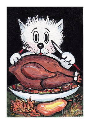 Kitty Loves Thanksgiving Poster