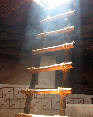 Poster featuring the photograph Kiva Ladder by Marcia Socolik