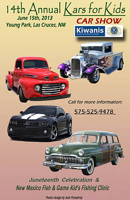 Kiwanis Car Show Poster Poster by Jack Pumphrey