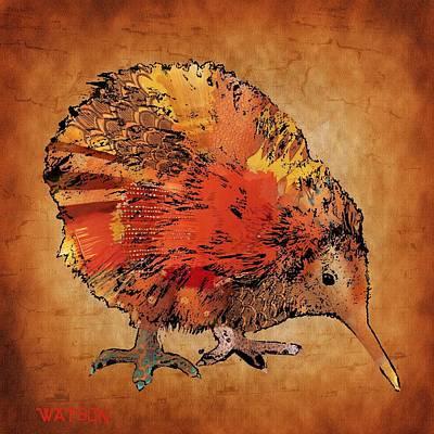 Kiwi Bird Poster by Marlene Watson
