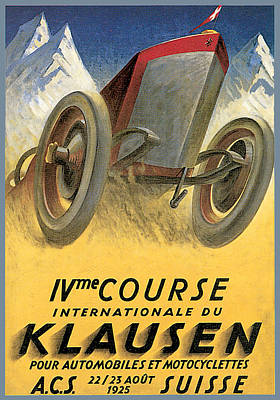Klausen Automobile Poster by Vintage Automobile Ads and Posters