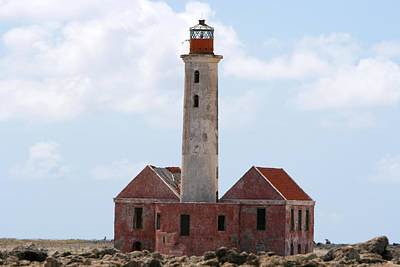Poster featuring the photograph Klein Curacao Lighthouse by David Millenheft