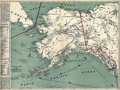 Prospector Survival Map Of Klondyke  1897 Poster by Daniel Hagerman