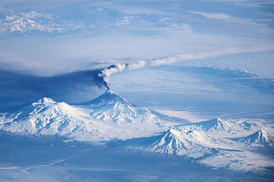 Klyuchevskoy Volcano Astronaut Photograph Poster