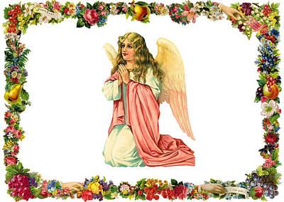 Kneeling Angel Poster by Munir Alawi