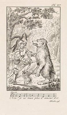 Knight Puts A Bear Down, Danil Veelwaard Poster by Dani?l Veelwaard (i) And Jacob Smies And Fran?ois Bohn