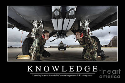 Knowledge Inspirational Quote Poster by Stocktrek Images