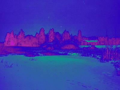 Knuutila Infrared Poster by Jouko Lehto