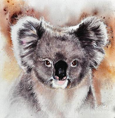 Poster featuring the painting Koala  by Sandra Phryce-Jones