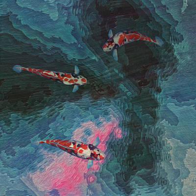 Koi Water Garden  Poster by Jack Zulli