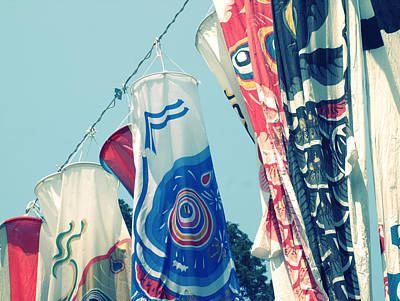 Koinobori Flags Poster by Rachel Mirror