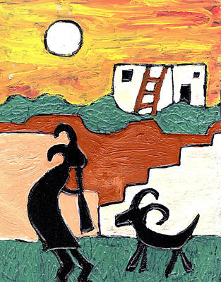 kokopeli at the Pueblo Poster