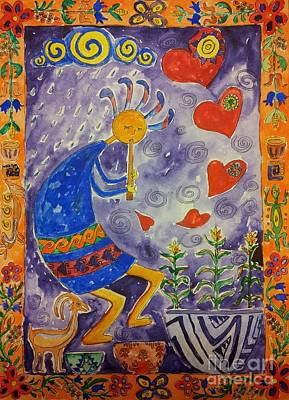 Kokopelli In Love Poster by Maryna Salagub