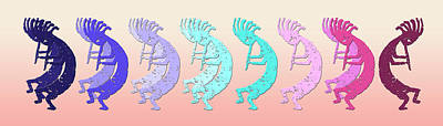 Kokopelli Looking For The Different Drummer Poster