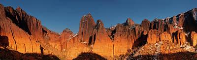 Kolob Canyons Evening Glow Poster
