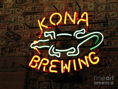 Kona Brewing Company Poster by Michael Krek