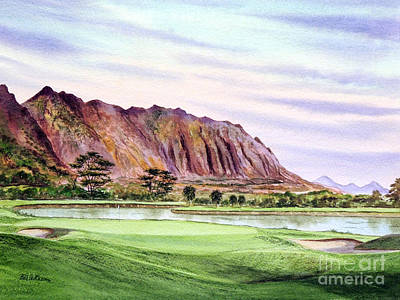 Koolau Golf Course Hawaii 16th Hole Poster