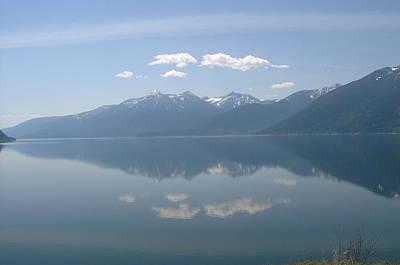Kootenay Lake Mirror Poster by Mavis Reid Nugent