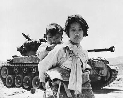 Korean Refugee Girl Poster by Underwood Archives