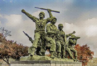 Korean War Veterans Memorial South Korea Poster by Bob and Nadine Johnston