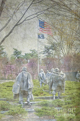 Korean War Veterans Memorial Washington Dc Beautiful Unique   Poster by David Zanzinger